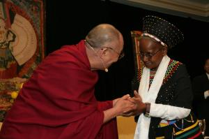 HIs Holiness the Dalai Lama & Sister Abegail